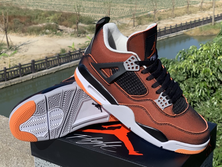 2002 Air Jordan 4 Retro Black Orange Shoes