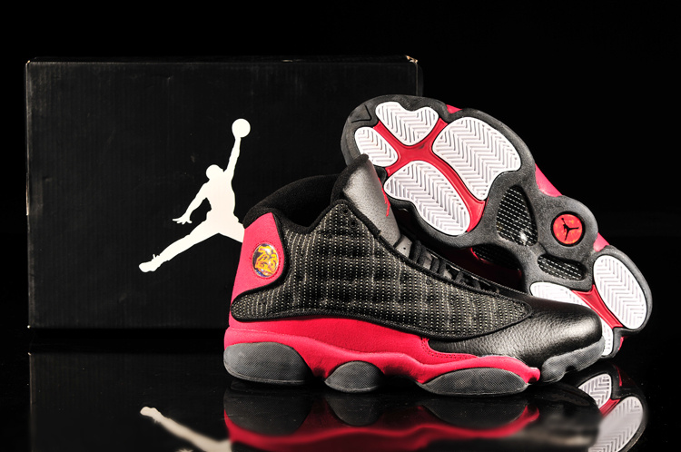 2013 Air Jordan 13 Black Red Shoes