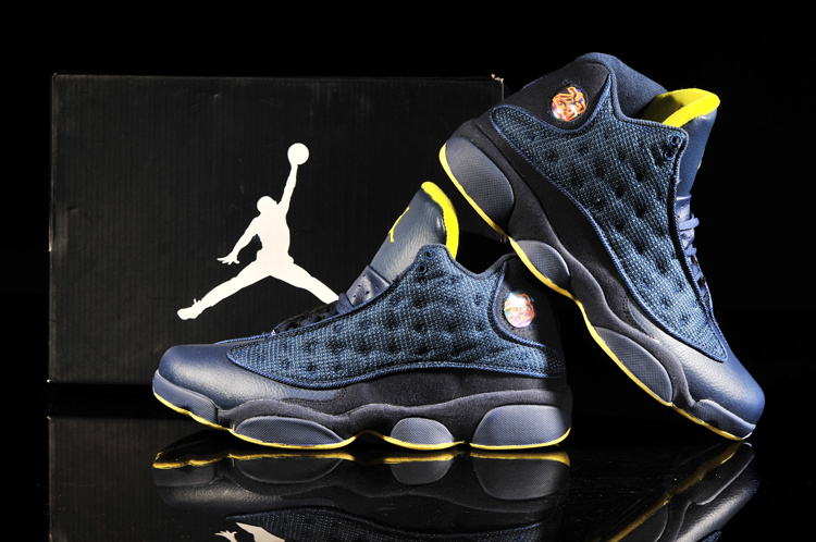 2013 Air Jordan 13 Blue Yellow Shoes
