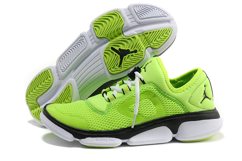 2013 Air Jordan Running Shoes Green Black White