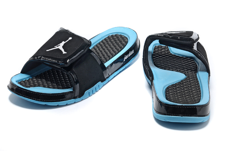 2013 Jordan Hydro 2 Black Blue Slipper