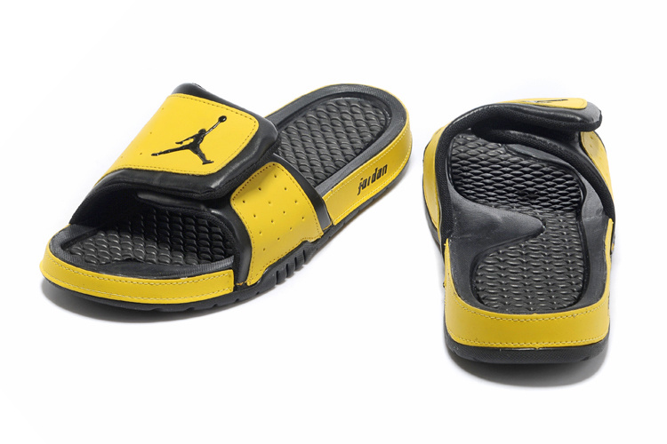 2013 Jordan Hydro 2 Black Yellow Slipper