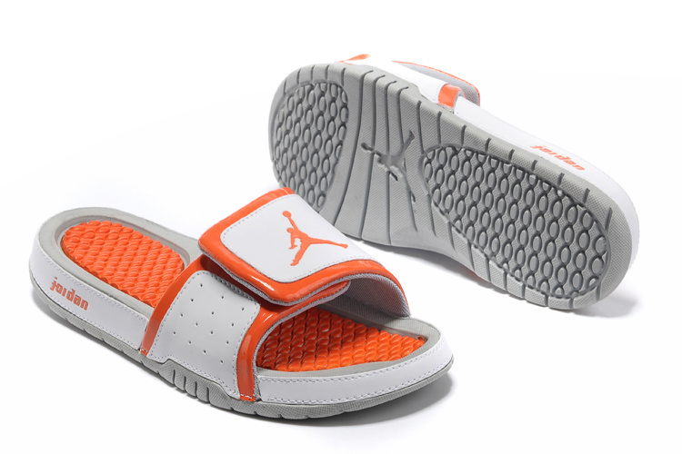 2013 Jordan Hydro 2 White Orange Slipper