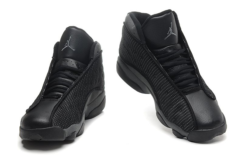 2014 Air Jordan 13 Retro All Black Shoes