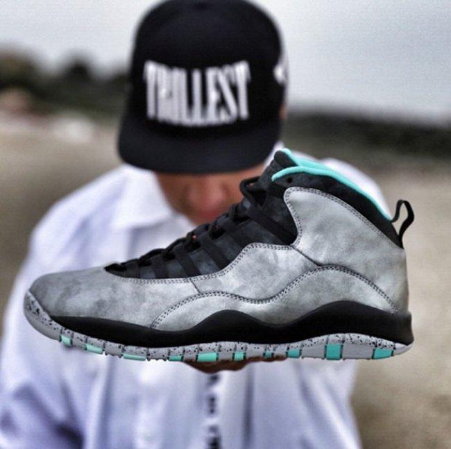 watch eb288 17711 2015 Air Jordan 10 Black Silver Shoes For Women