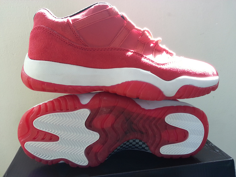 Latest Air Jordan 11 OG Low Red White Shoes