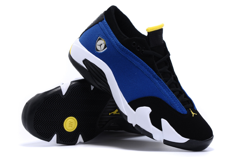 2015 Air Jordan 14 Low Blue Black White Shoes