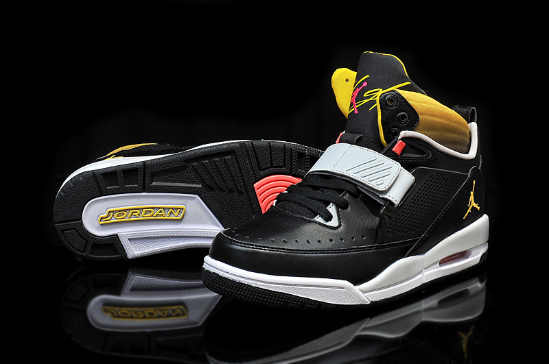 2015 Air Jordan Flight 97 Black Grey Yellow Shoes