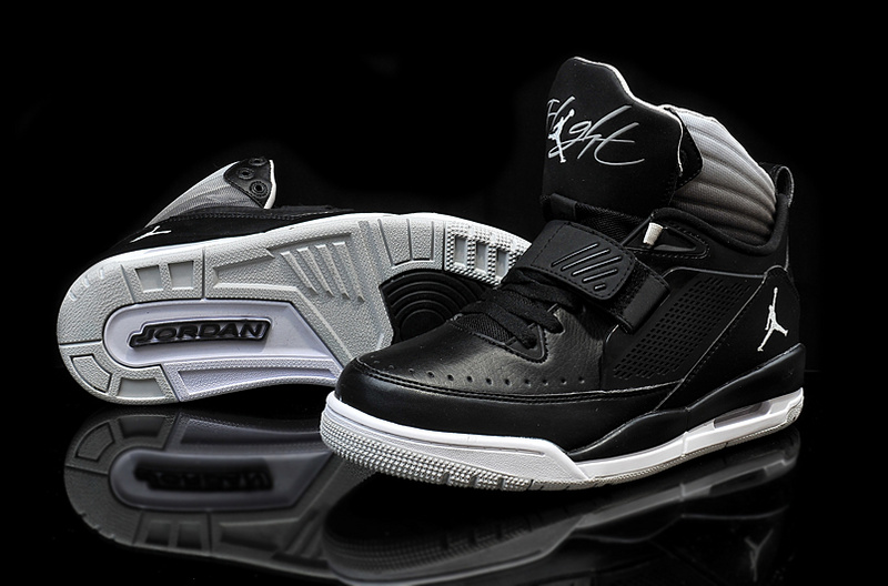 2015 Air Jordan Flight 97 Black White Grey Shoes
