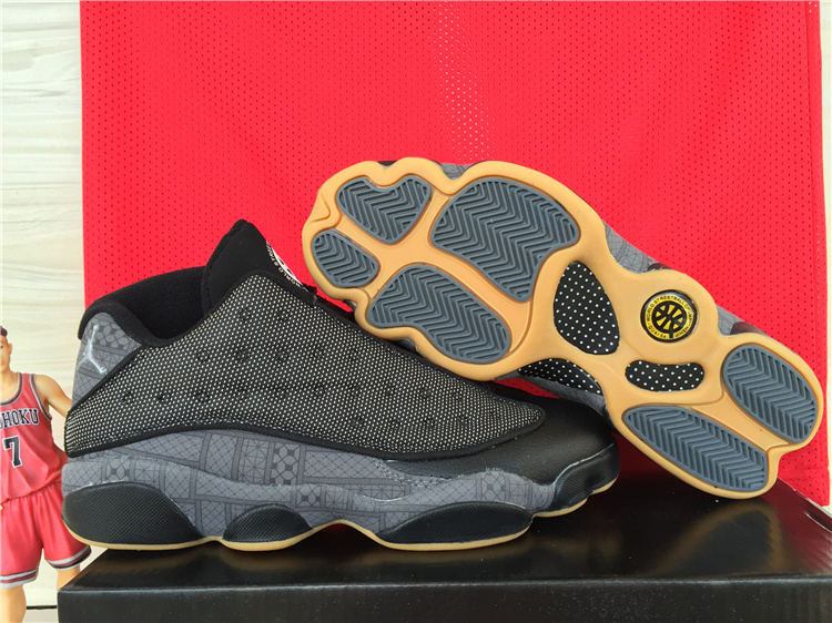 4efd4cc66fd240 Latest Air Jordan 13 Low Black Orange Shoes  OG82307  -  75.00 ...