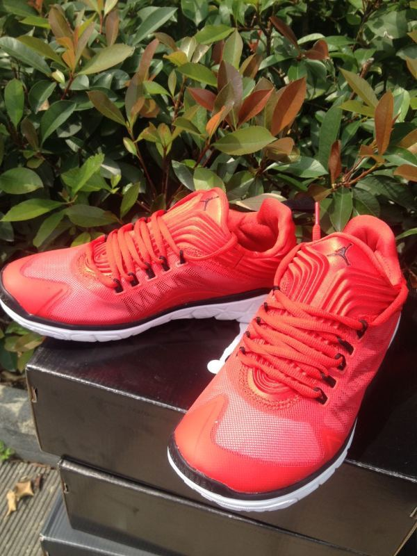 2015 Jordan Running Shoes Red Black