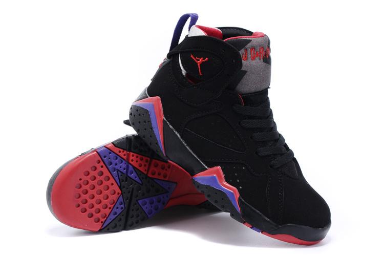 more photos 06c2a b06a7 2015 Kids Air Jordan 7 Retro Black Purple Red Shoes ...
