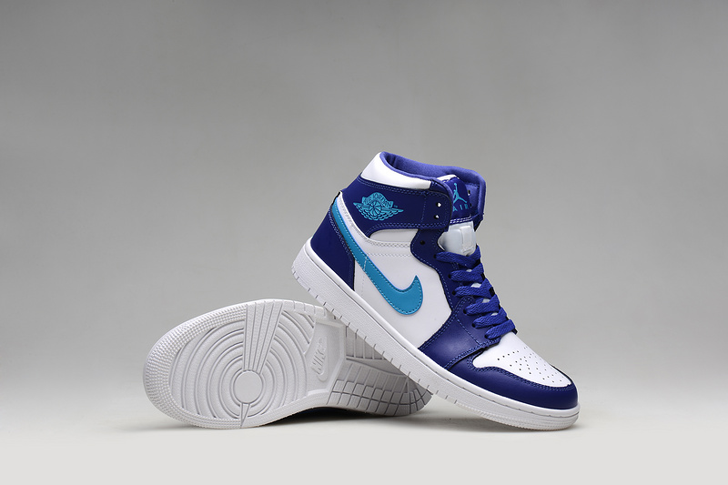 Retro White Purple Blue Shoes