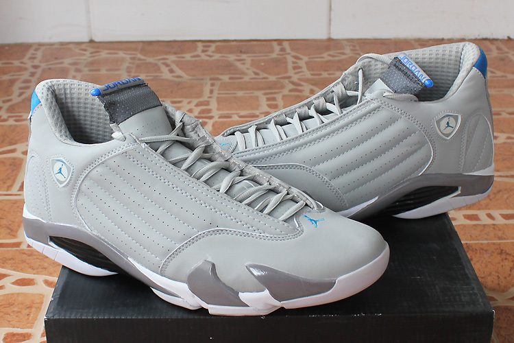 2015 Original Jordan 14 White Grey Shoes