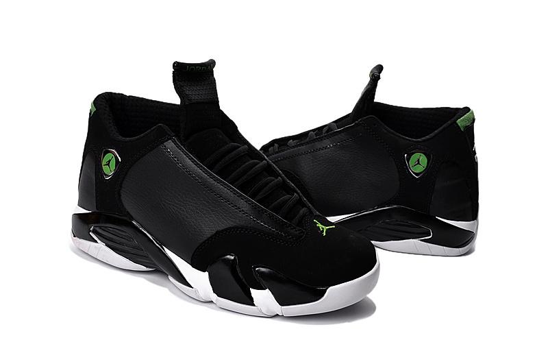 91c7af173065ad 2016 Jordan 14 Black Green Shoes  2015MAY1  -  77.00   Original Air ...