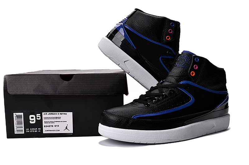 2016 Jordan 2 Black Blue Shoes
