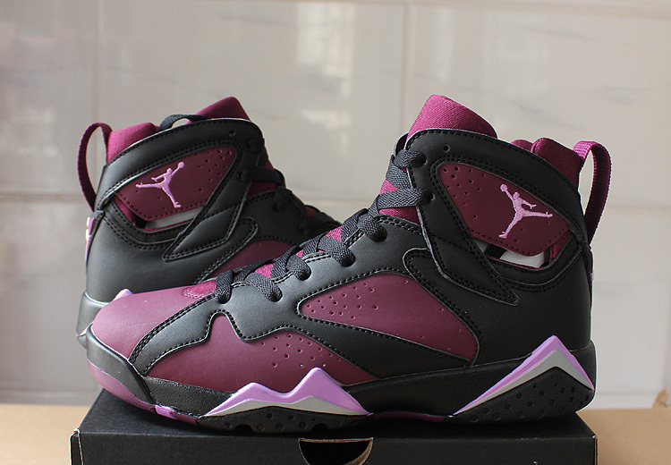 2016 Jordan 7 Mulberry Purple Black Shoes
