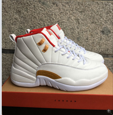 new jordans 12 red and white Shop