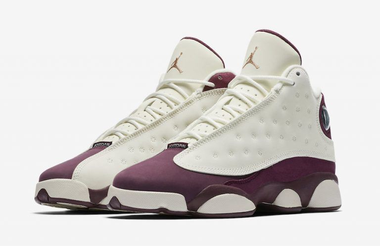 2017 Air Jordan 13 Retro White Wine Red Shoes