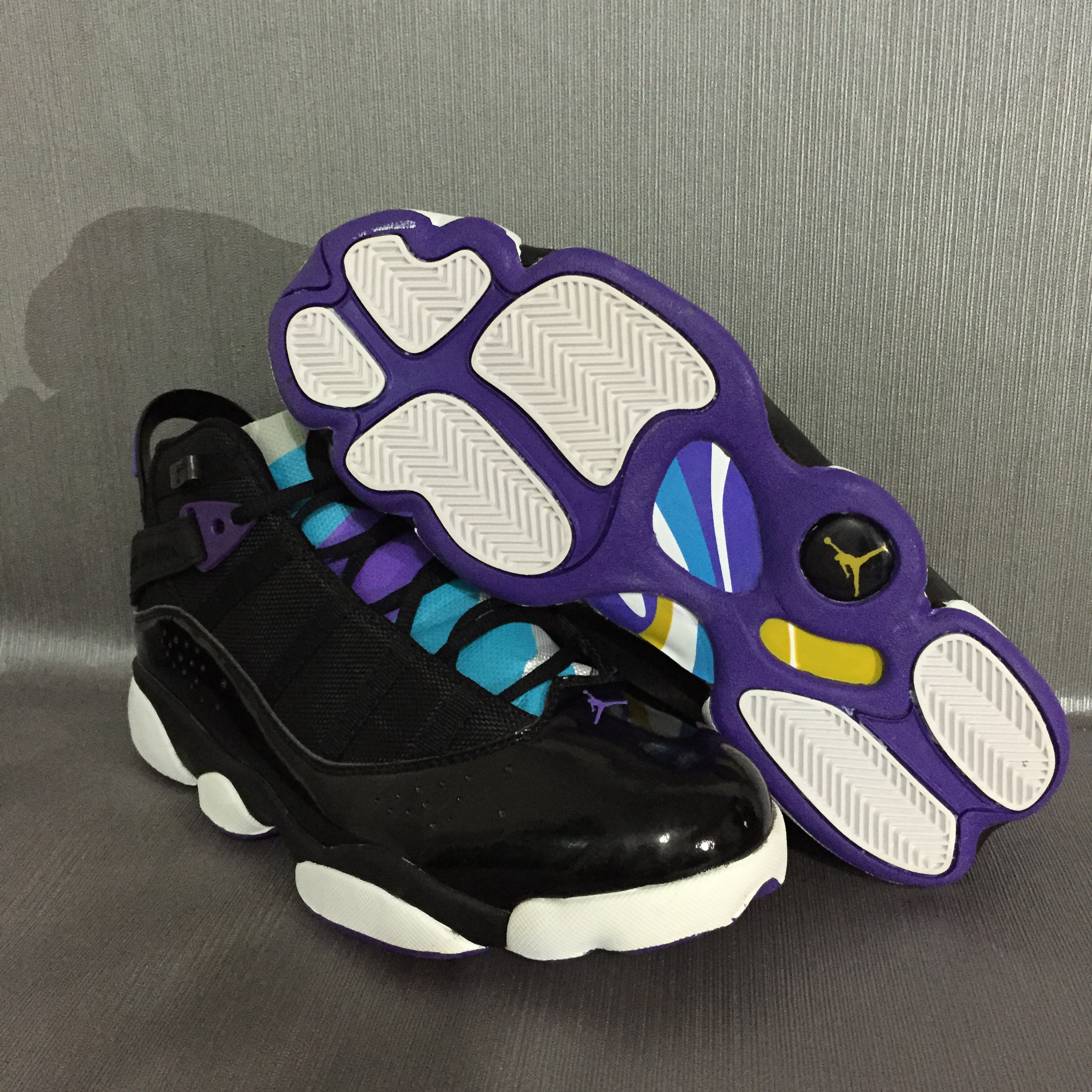 2017 Air Jordan 6 Rings Black Purple White Shoes