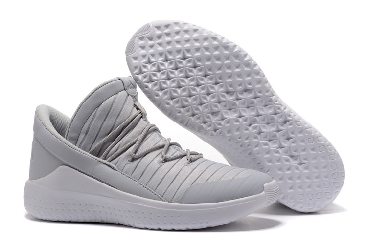 2017 Jordan Flight Luxe Grey White Shoes