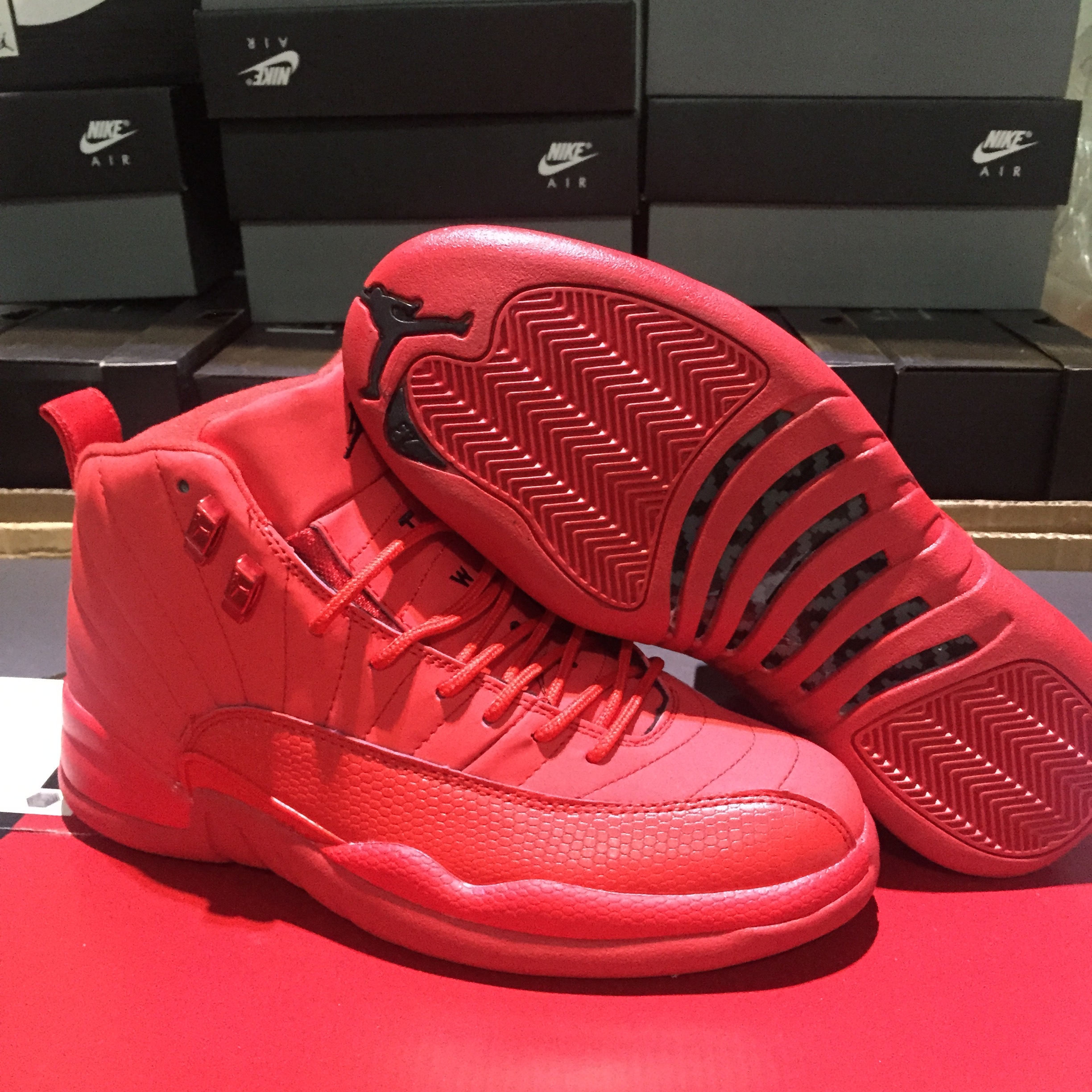 2018 Air Jordan 12 All Red Shoes