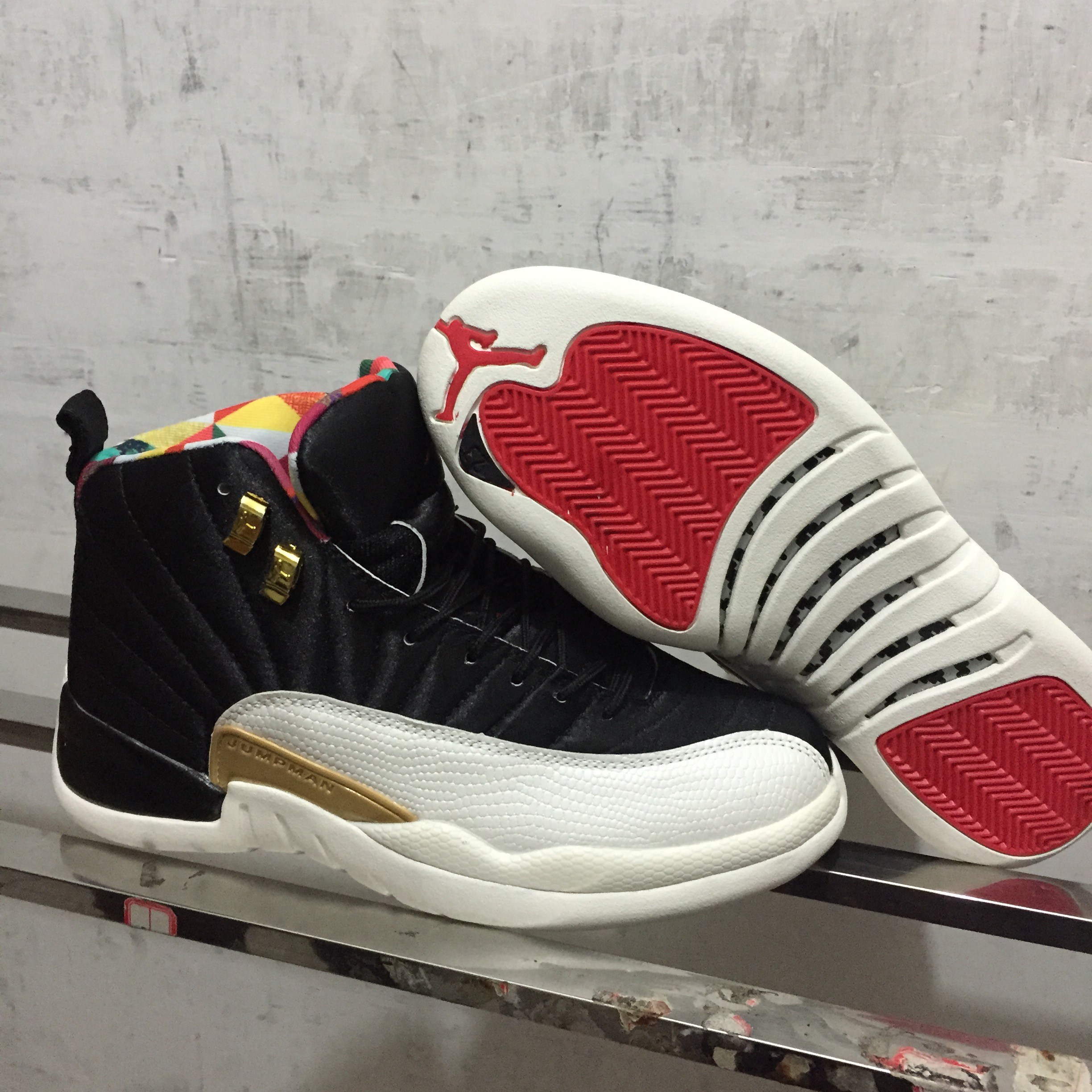 2019 Air Jordan 12 CNY Black White Gold Red