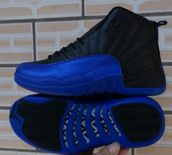 2019 Air Jordan 12 Retro Black Blue Shoes
