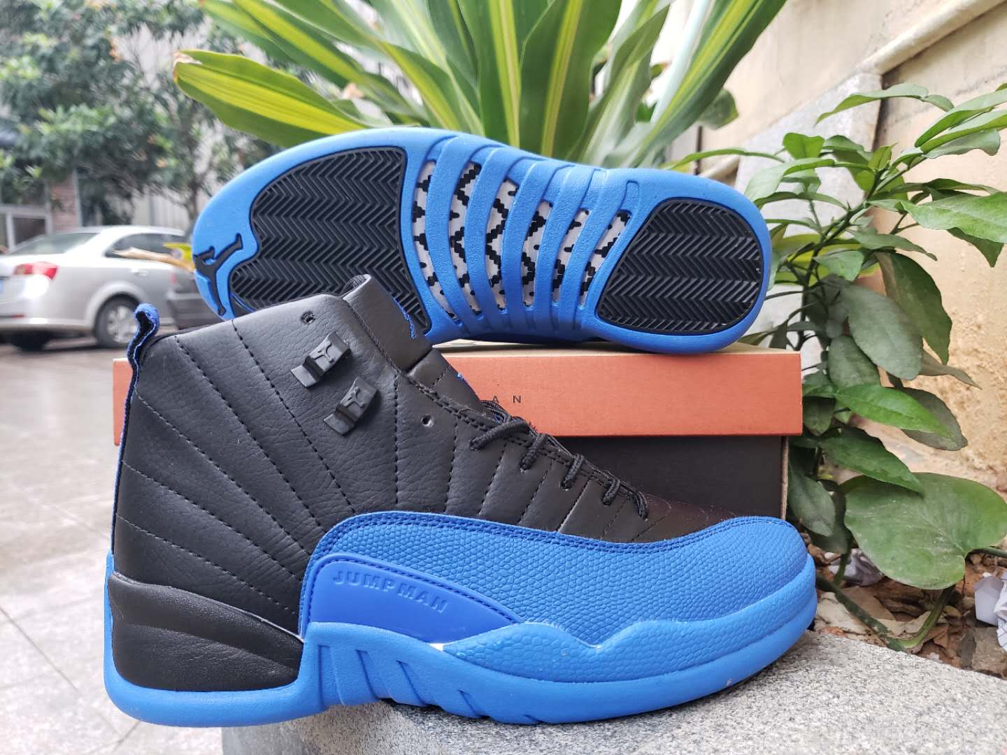 2019 Air Jordan 12 Retro Black Royal Blue Shoes