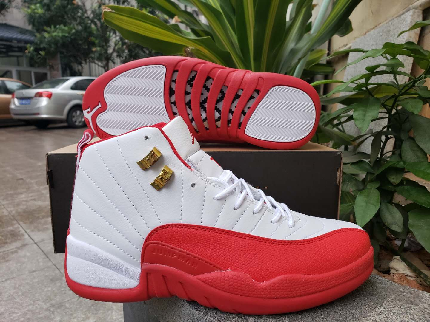 2019 Air Jordan 12 Retro White Water Red Shoes