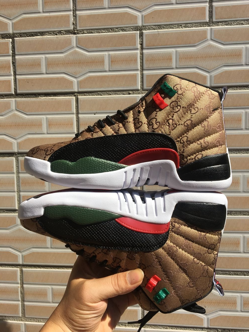 2019 Air Jordan 12 Print Brown Black Red Shoes