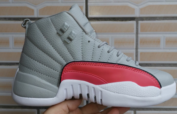 2019 Air Jordan 12 Valentine Day's Grey Red White Shoes