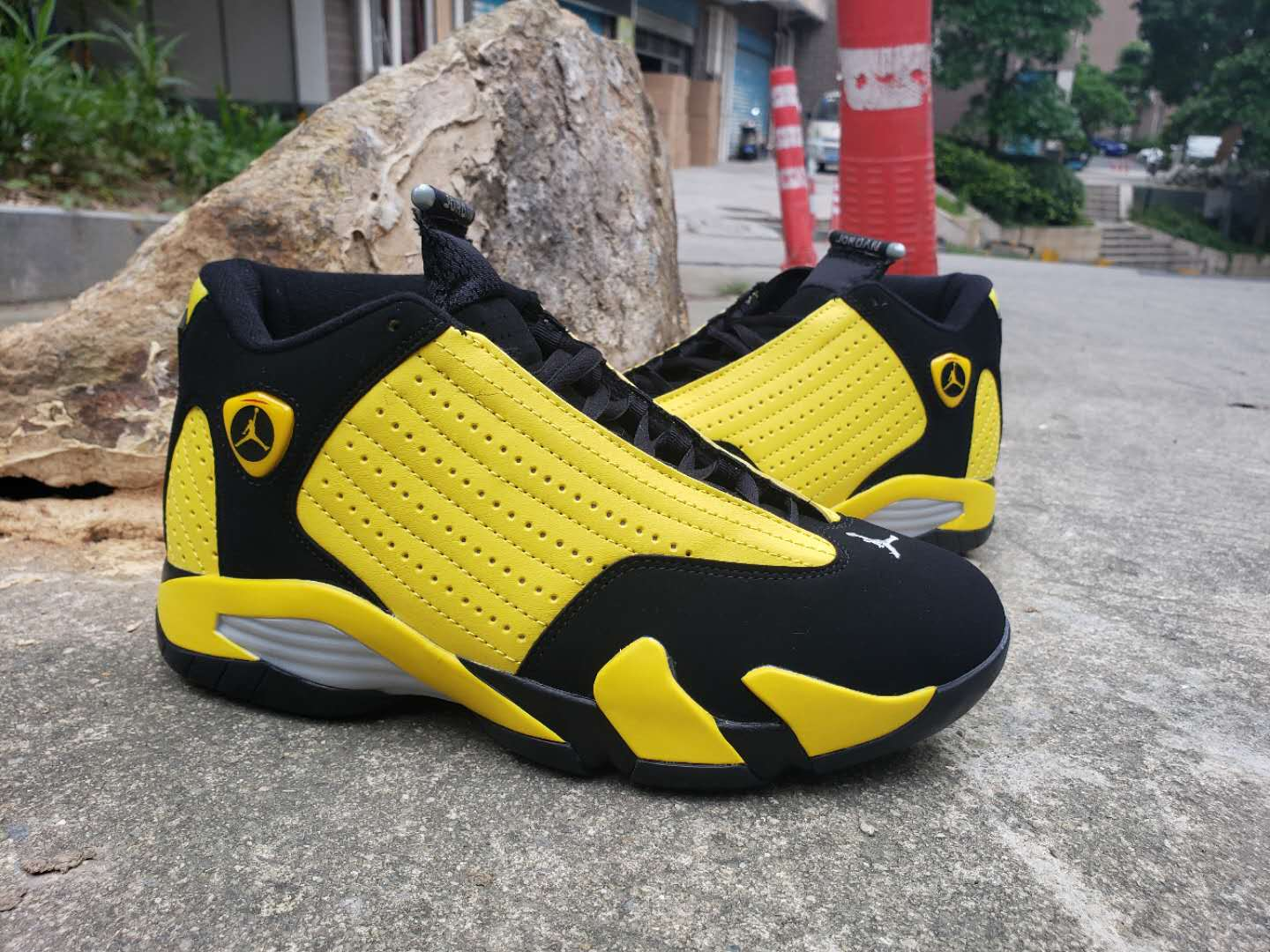 2019 Air Jordan 14 Bumblebee Yellow Black Shoes