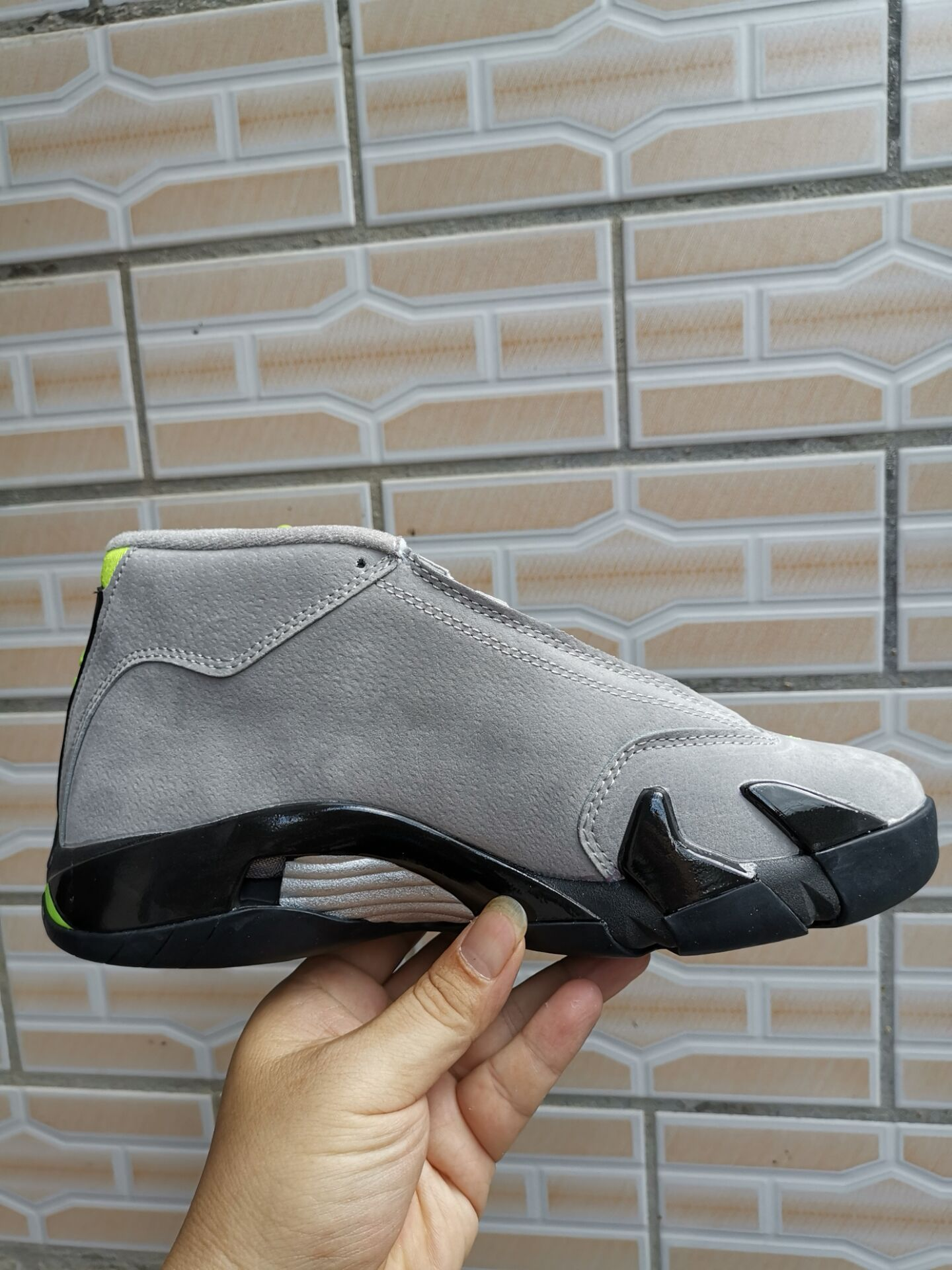 2019 Air Jordan 14 Grey Black Yellow Shoes