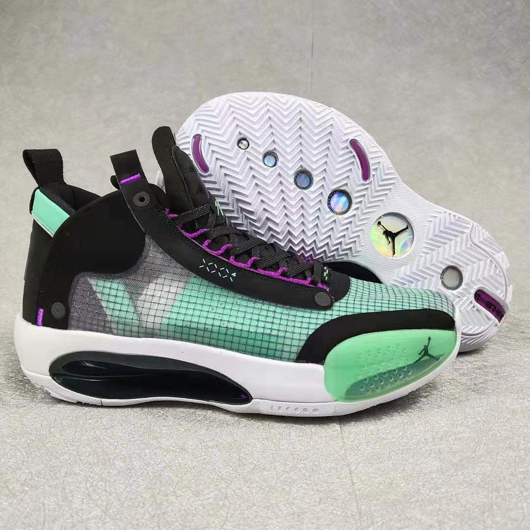2019 Air Jordan 34 Green Black Pink White Shoes
