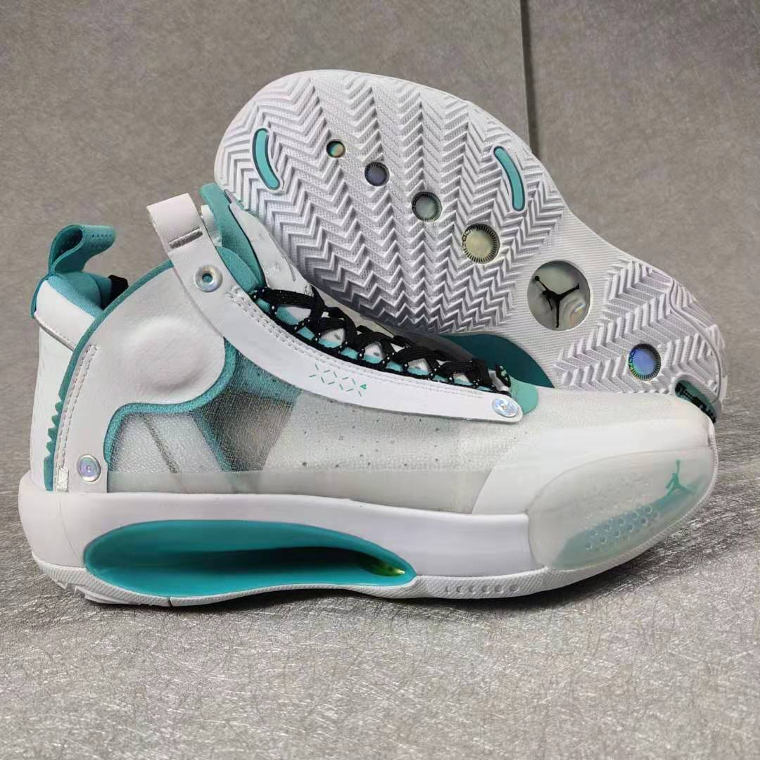 2019 Air Jordan 34 White Jade Blue Black Shoes