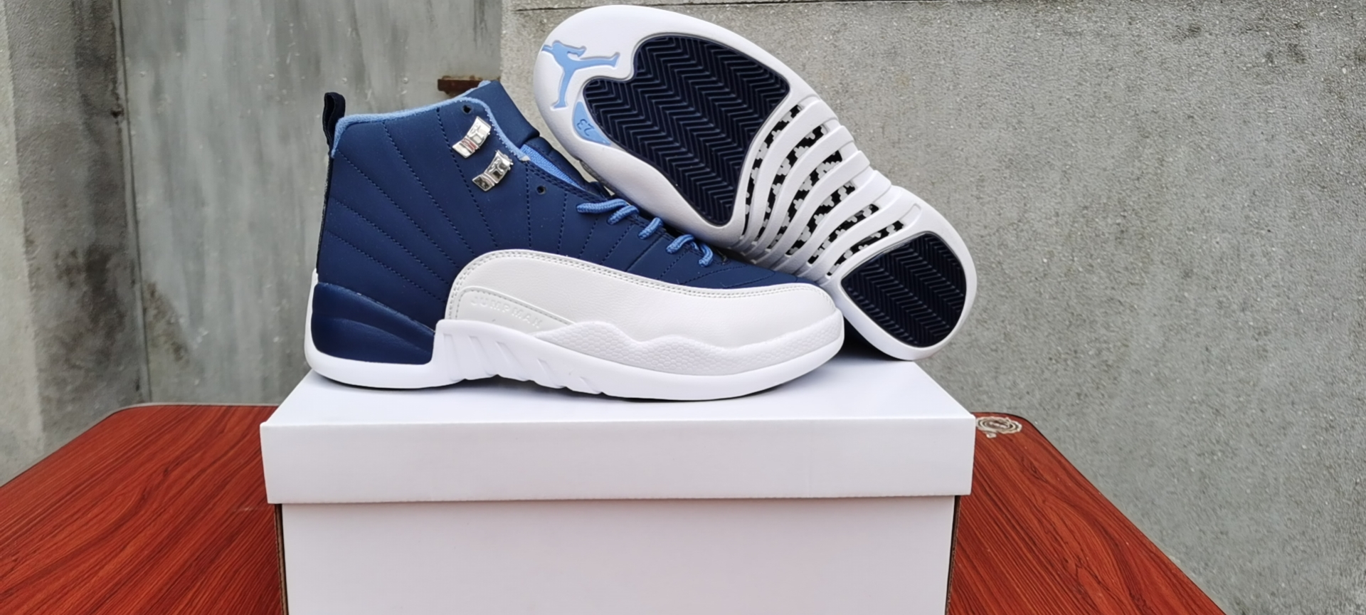 Women 2020 Air Jordan 12 Stone Blue Shoes