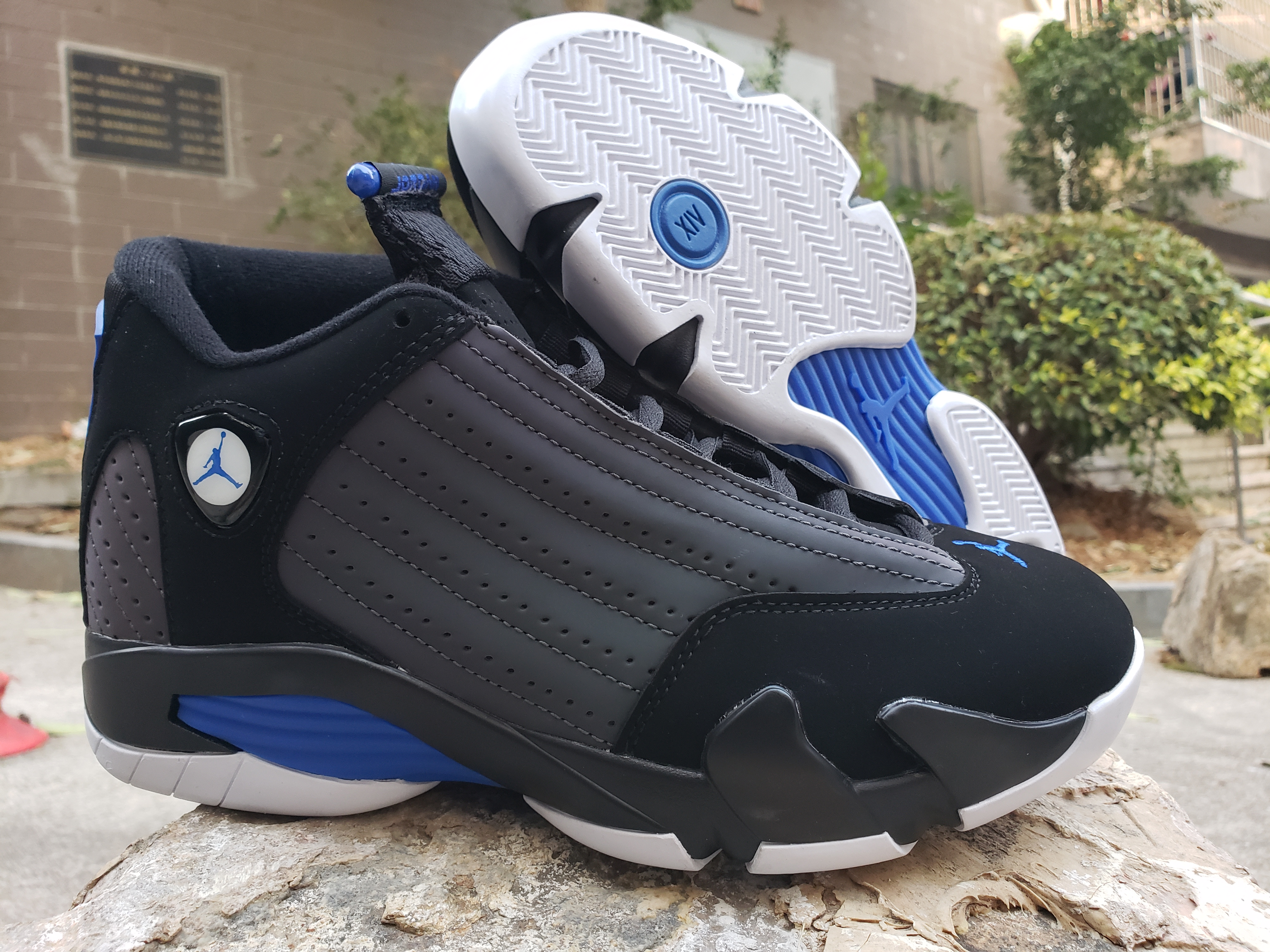 2020 Air Jordan 14 Retro Black Blue Shoes