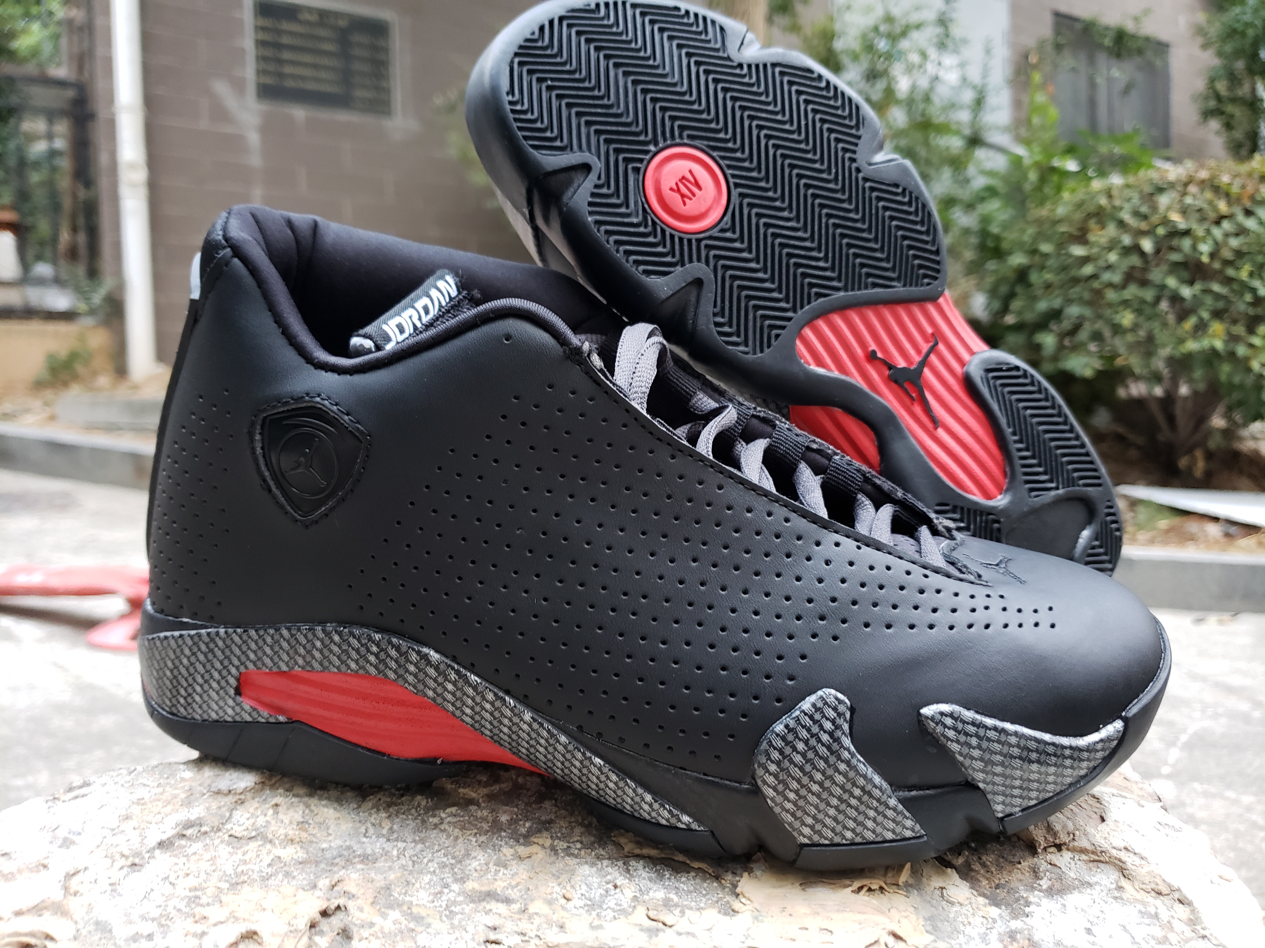 2020 Air Jordan 14 Retro Black Red Shoes
