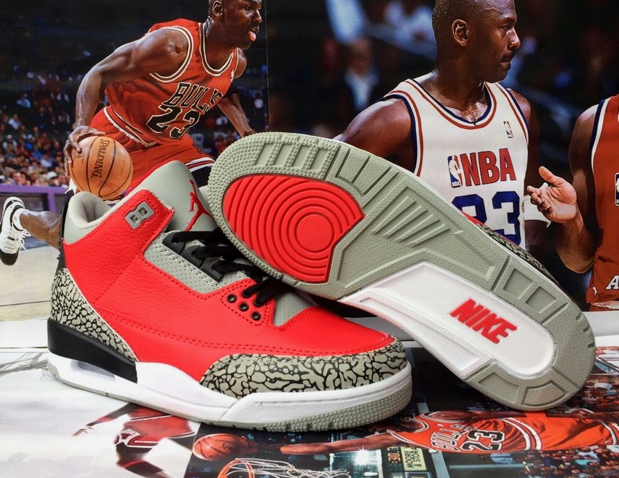 2020 Air Jordan 3 Bred Red Shoes