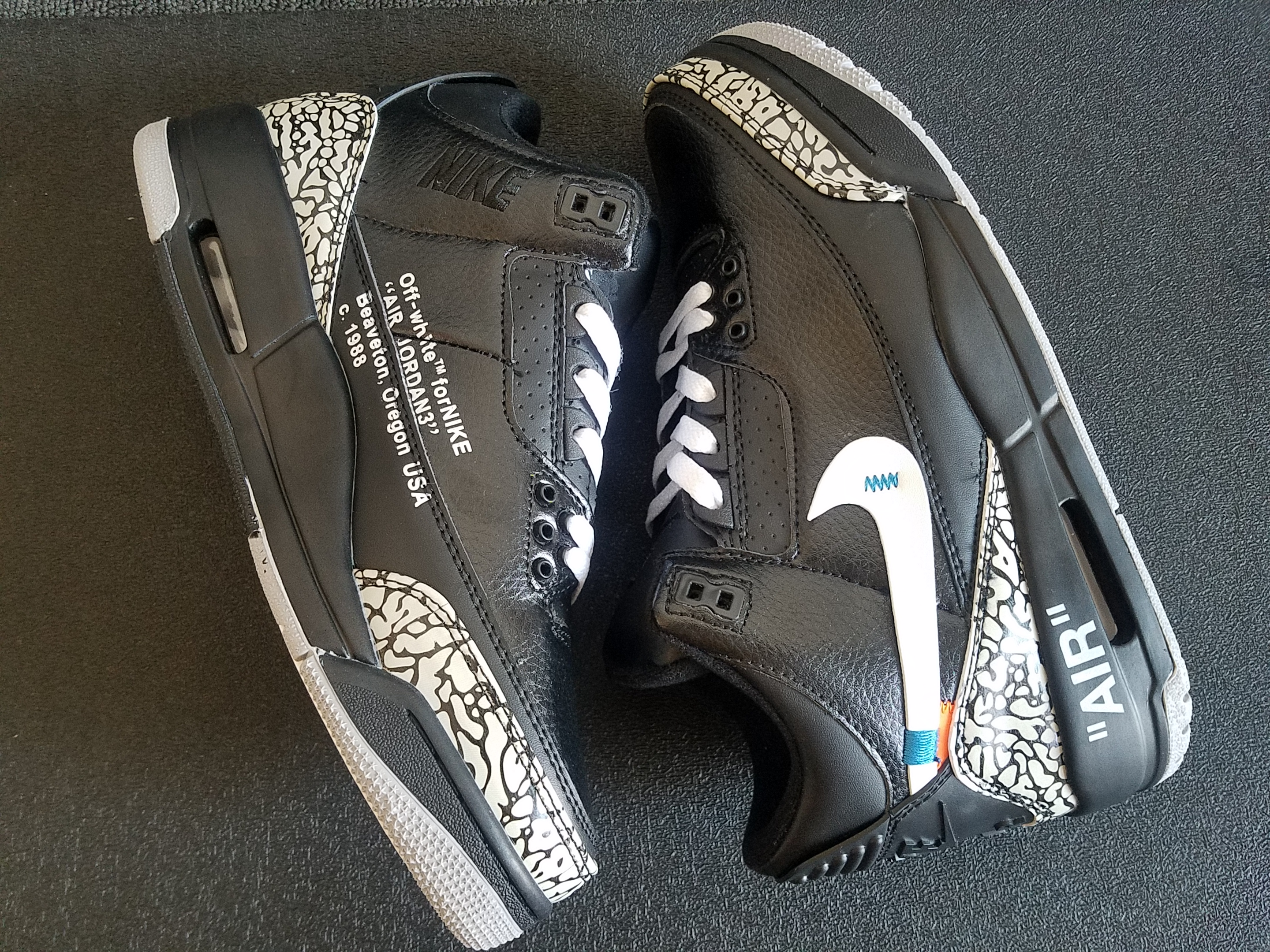 AJ3 x off black cement grey white shoes