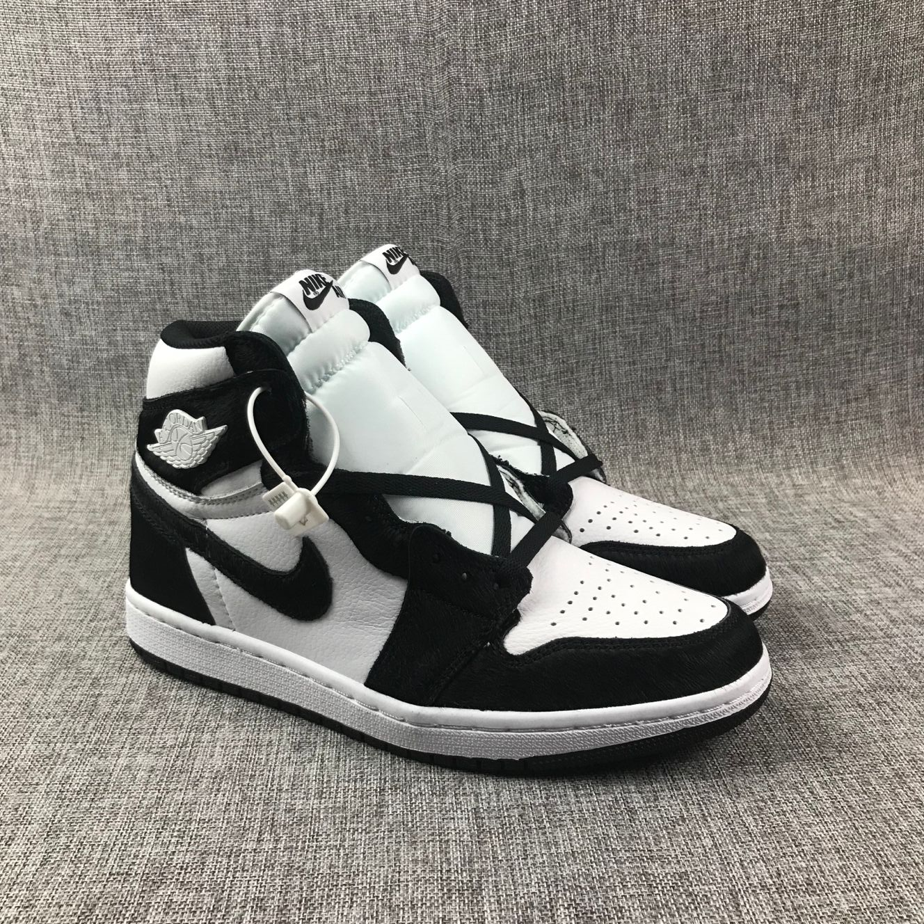 Air Jordan 1 Horse Hair White Black Shoes