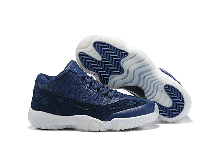 Air Jordan 11 Low IE Highlighter Blue White Shoes
