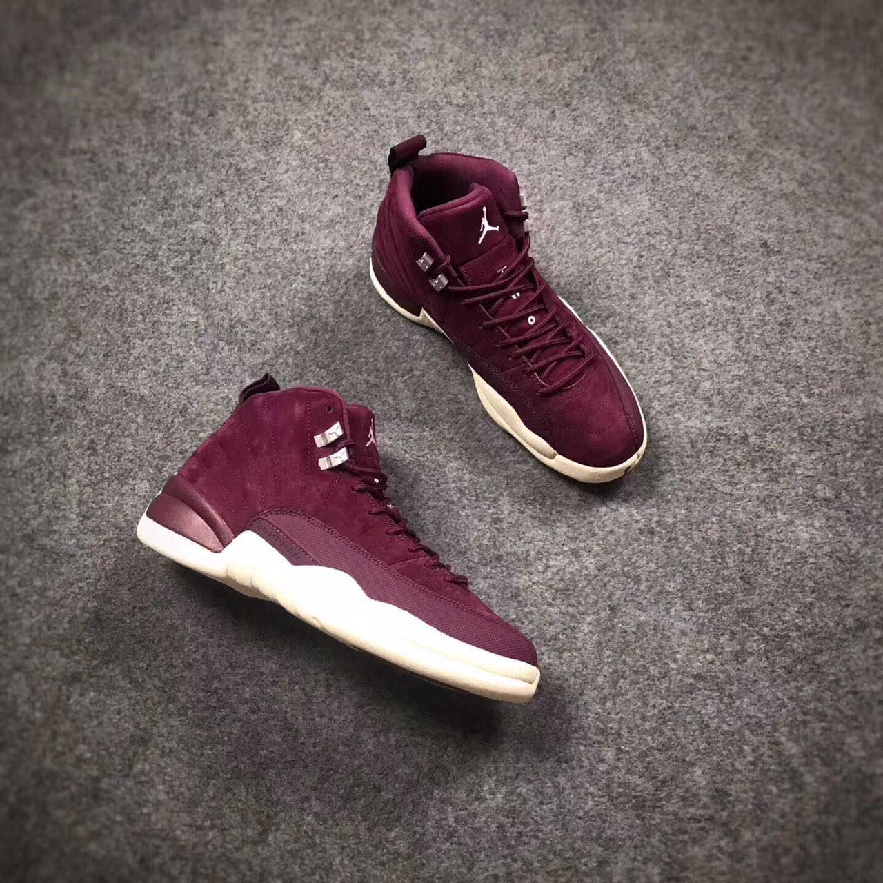 Air Jordan 12 Bordeaux Wine Red Shoes