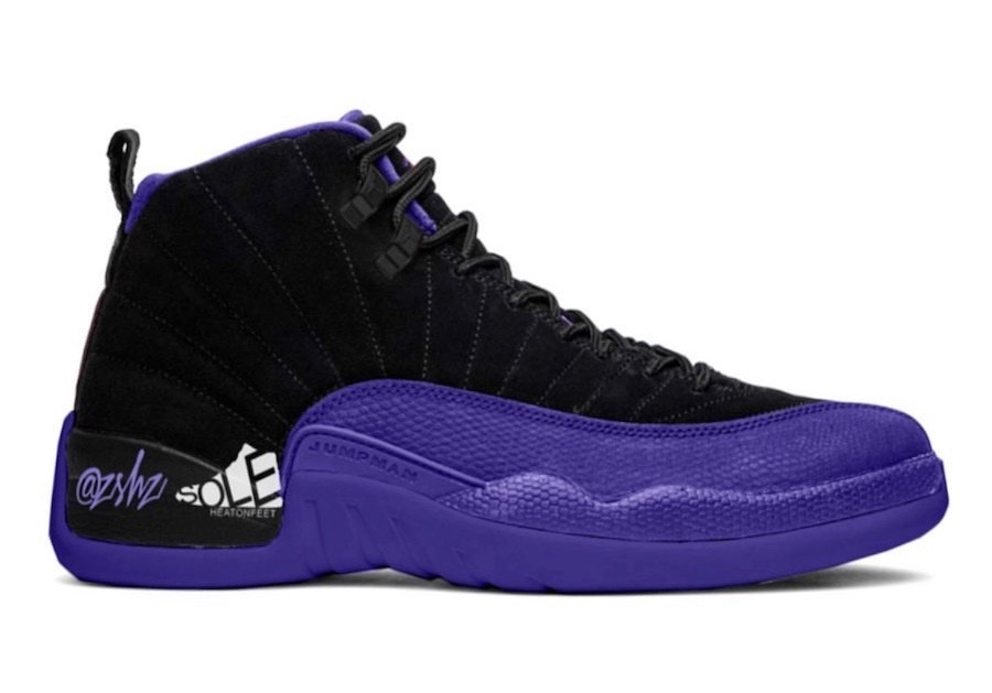 Air Jordan 12 Dark Concord Black Purple Shoes