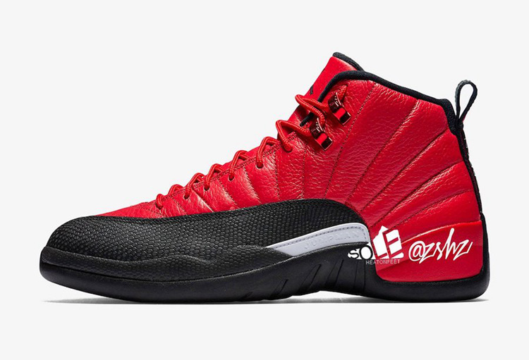 Air Jordan 12 Reverse Flu Game Red Black Shoes