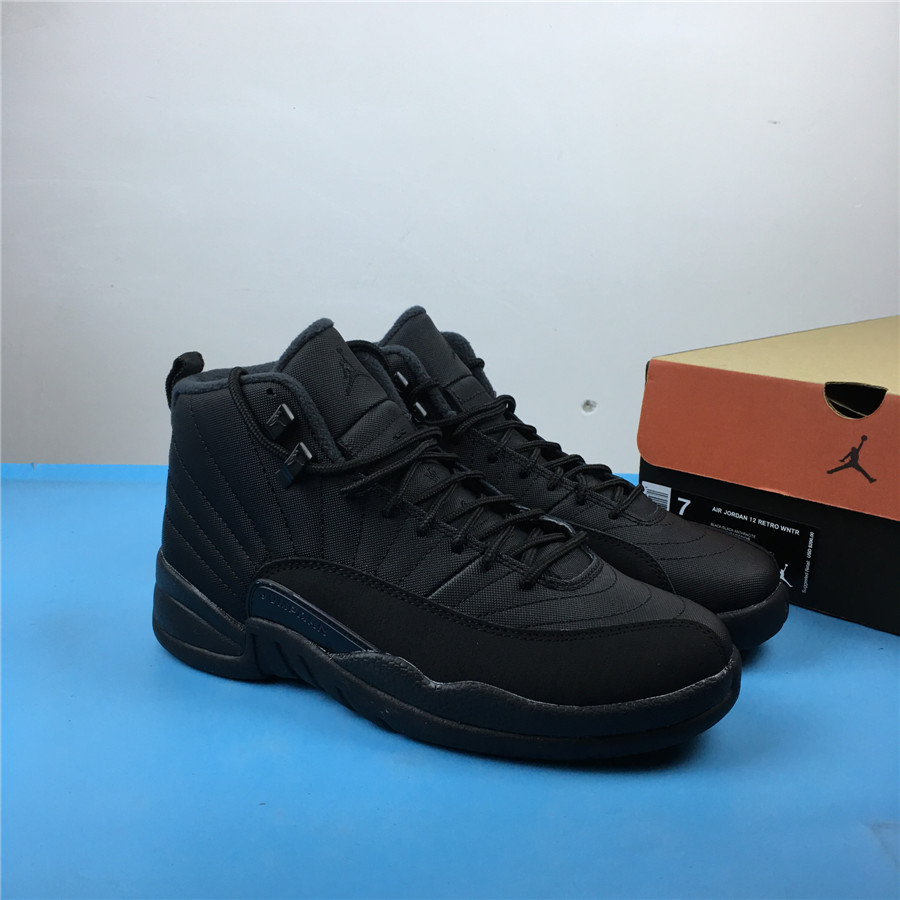 Air Jordan 12 Winterized All Black Shoes