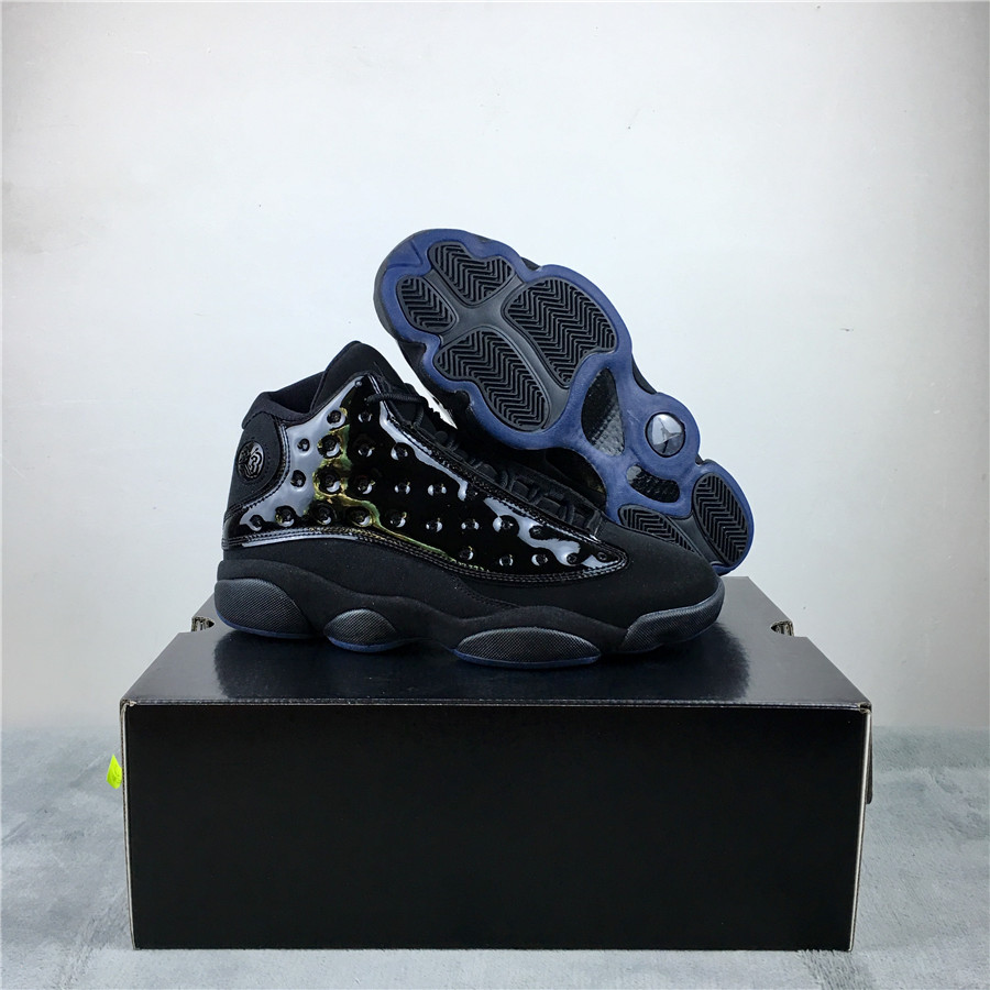 Air Jordan 13 Cap And Gown Black Gamma Blue Shoes