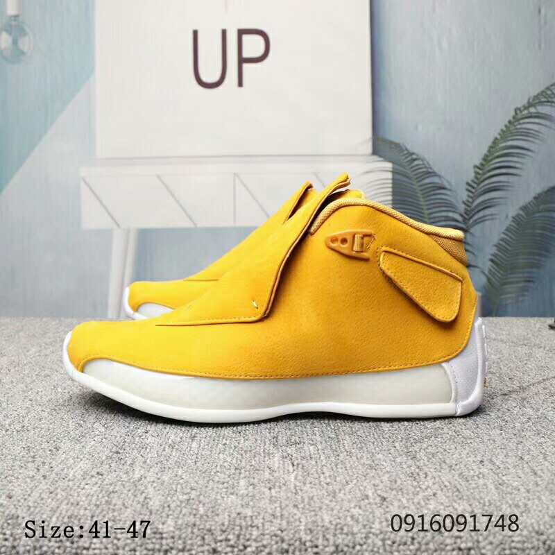 Air Jordan 18 Yellow Shoes