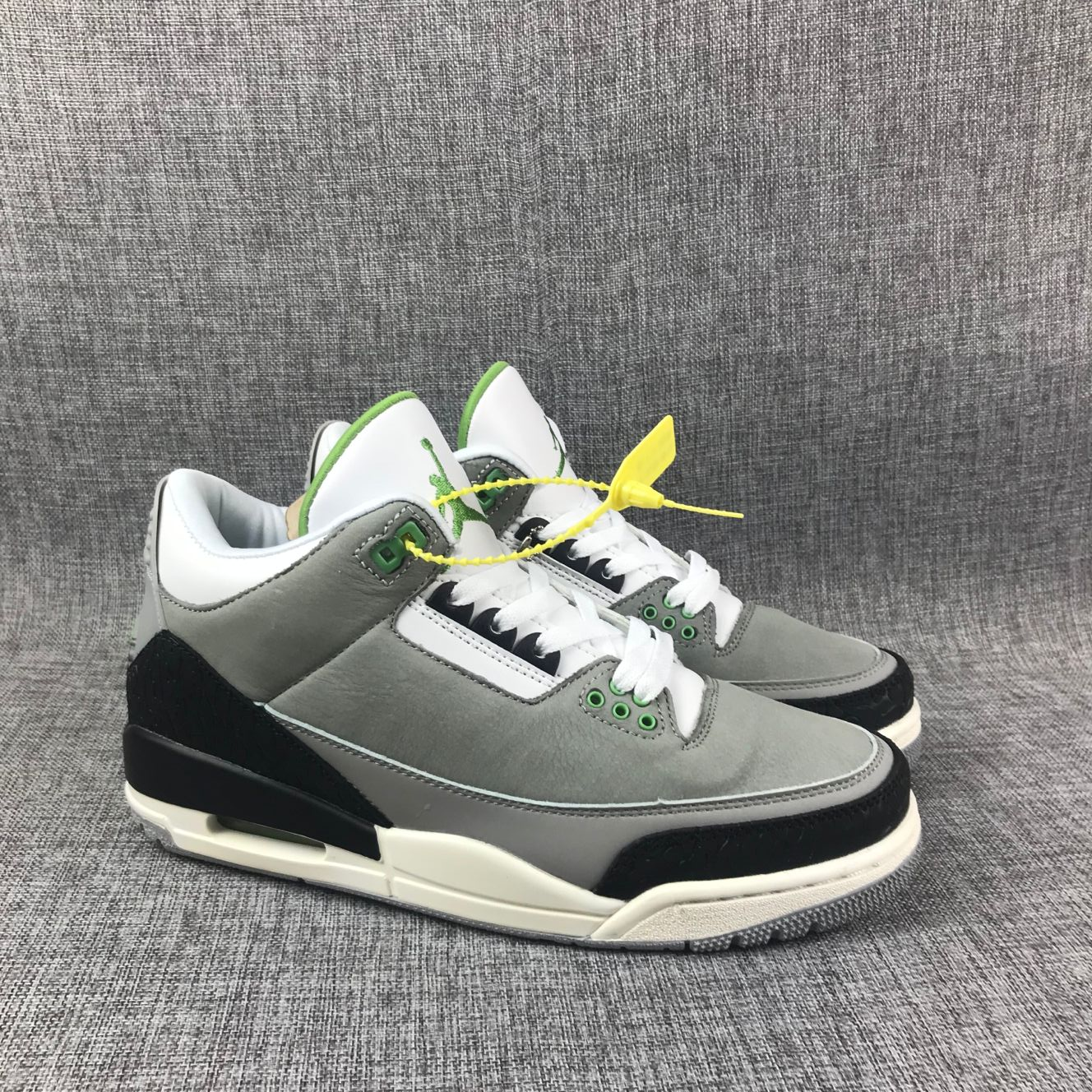 Air Jordan 3 Chlorophyll Green Black White Shoes